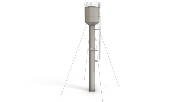 Башня ВБР 25У 15 — высота опоры 15 метров