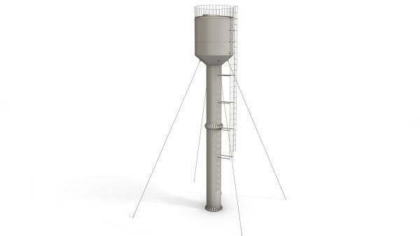 Башня ВБР 25У 12 — высота опоры 12 метров